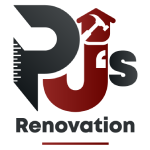 PJ's Renovation logo home